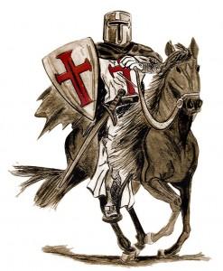 (Ilustración de un Caballero Templario)