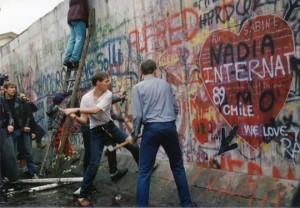 (La caída del Muro de Berlín)